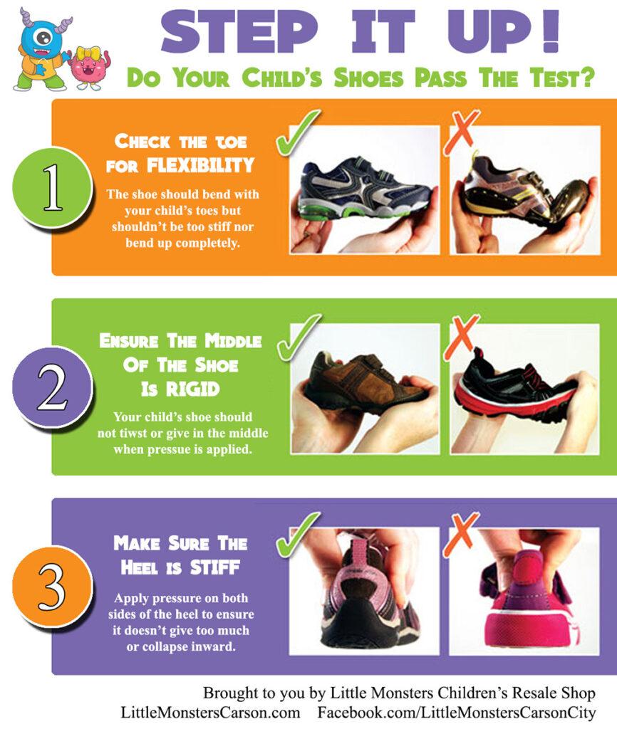 Test chart for children's footwear