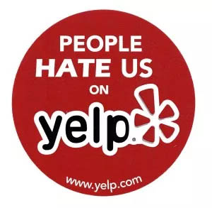 people hate us on Yelp