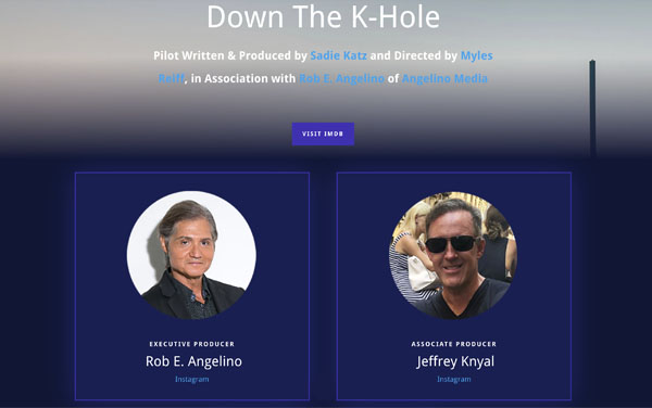 Down the K-Hole staring Rob E. Angelino