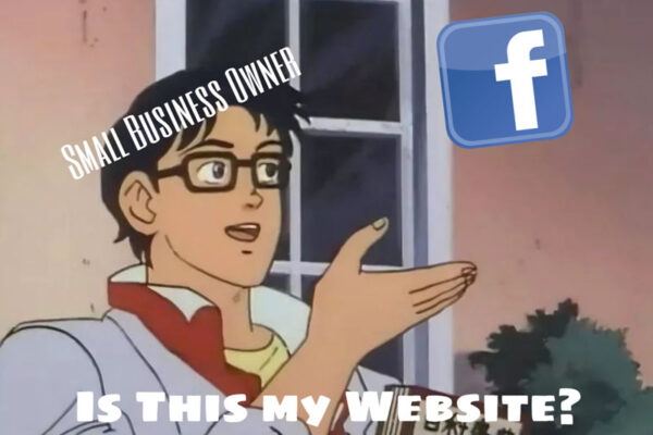 A Facebook page is not the same as your website