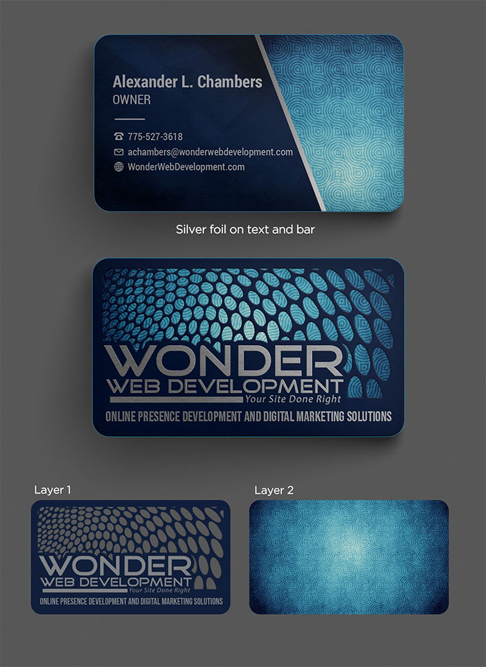 Wonder Web Development new business cards